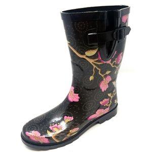 Women's Mid Calf Rain Boots, #5509, Cherry Orchard